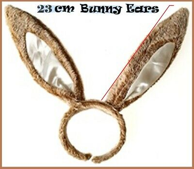 Brown BUNNY Rabbit EARS Plush Fluffy HEADBAND Easter Hens Party Costume