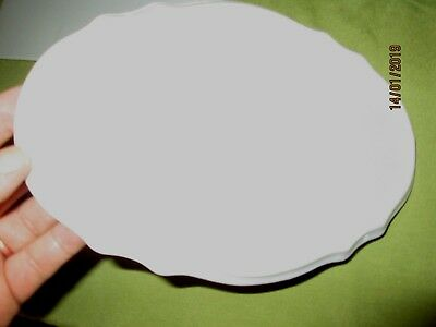 PORCELAIN/ CERAMIC WHITE PLAQUES-FOR PAINTING-CRAFT. QUALITY.FANCY OVAL-24x 16cm