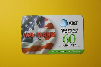 Wal Mart 60 Minutes - Pre Paid 2002 -Collectibles Old Vintage Tele Phone Card