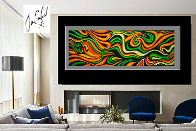 Large  Abstract Dreaming  green Art Oil Painting original Australia