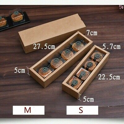 10 PCS Biscuit Moon Cake Kraft Paper Boxes Wedding Candy Snack Gift Packing Box