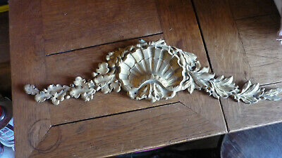 Antique Bronze Ornament: 19thC Gilt Furniture French Pediment Architectural