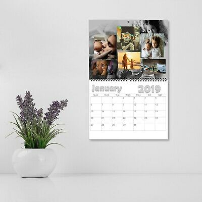 Personalised 12 Month Wall Calendar With Your Family Photos   2019   A3 A4 A5