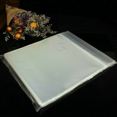"50pcs 12"" LP Vinyl Record Sleeves Covers Album Outer Plastic Anti-Static Clear"