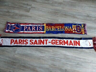 c97f99cc822 2 ECHARPES PARIS Saint Germain Barcelone - EUR 8