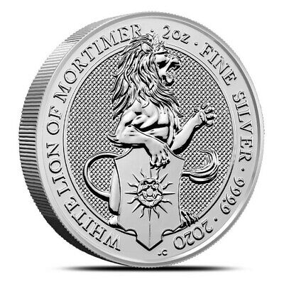 2019 Great Britain 2 oz Silver Queen's Beasts (Yale) Coin .9999 Fine BACKORDER