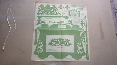 Vintage Wooden Toy Hobby Design Template & Instructions 1947 Royal Wedding Frame