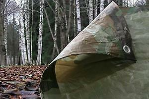 NEW: Tarp-Tex 80gsm Waterproof Camo Camouflage Tarp Tarpaulin Ground Sheet Cover