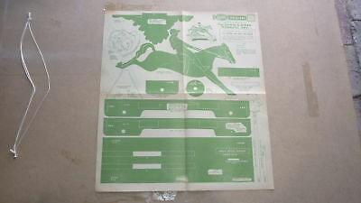 Vintage Wooden Toy Hobby Design Template & Instructions, 1946 Toy Race Horse