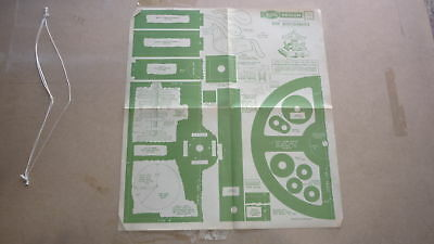 Vintage Wooden Toy Hobby Design Template & Instructions, 1948 Toy Carousel