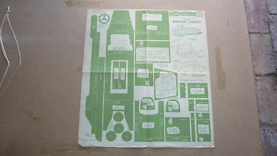 Vintage Wooden Toy Hobby Design Template & Instructions 1946 Motor Lorry