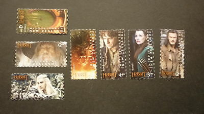 2014 New Zealand Post Stamps, Set Of 7 Lord Of The Rings Hobbit Mint Mnh