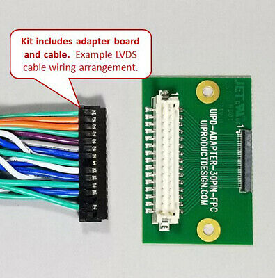 30 PIN LVDS TFT display interface kit 0 5mm FFC FPC UI Product Design