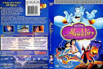 Aladdin (DVD, 2004, 2-Disc Set, Special Edition English/French/Spanish) NEW!