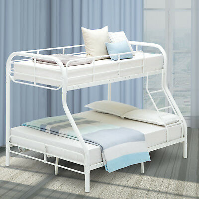 5c31f82c5b61c Metal Bunk Bed Twin over Full Kids Teens Dorm Bedroom Loft Furniture with  Ladder