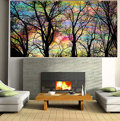 Landscape Art Painting Tree Forest woods Rainbow Abstract Canvas Australia