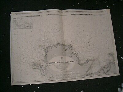 Vintage Admiralty Chart 1170a UK - HOLYHEAD to GREAT ORMES HEAD 1912 edn