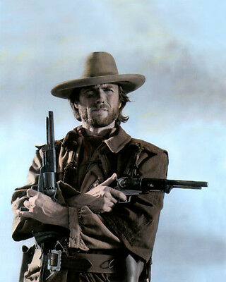"""CLINT EASTWOOD THE OUTLAW JOSEY WALES 1976 8x10"""" HAND COLOR TINTED PHOTOGRAPH"""
