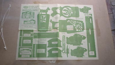 Vintage Wooden Toy Hobby Design Template & Instructions 1948 Cigarette Dog Box