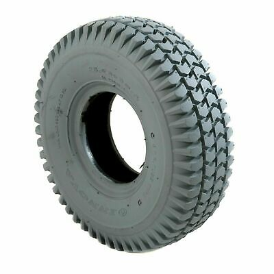 1 Set of x4 Tyres 260x85 3.00-4 Grey Mobility Scooter Tyre 300x4 (2 Block 2 Rib)