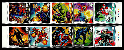 Gb 2019 Marvel Comics Super Heroes Spider-Man Hulk Thor Captain Britain Set Mnh