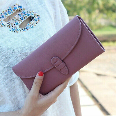 Women Leather Wallet Long Purse Ladies Card Holder Case Clutch Phone Handbag