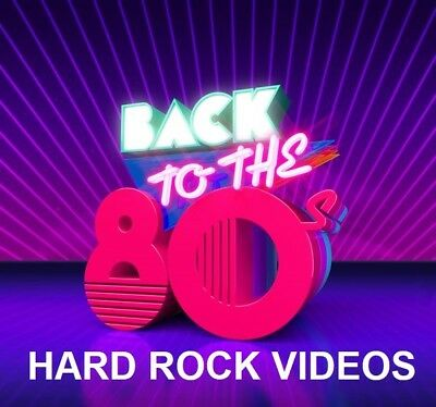 80's HARD ROCK MUSIC VIDEOS DVD–Bon Jovi, ZZ Top, Def Leppard, U2 & MORE-51 HITS