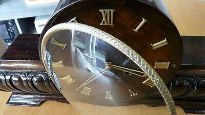 Art Deco German Kienzle Walnut Ting Tang Chiming Clock Pforce 48Hr Fully Insured