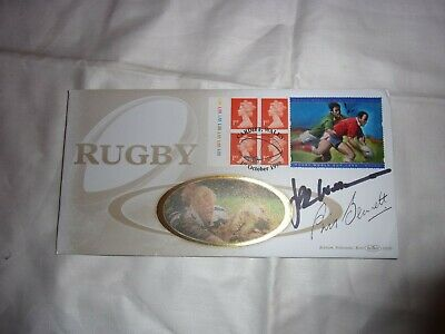 Jpr Williams And Phil Bennett Hand Signed Fdc.. Wales Rugby.lions Rugby.