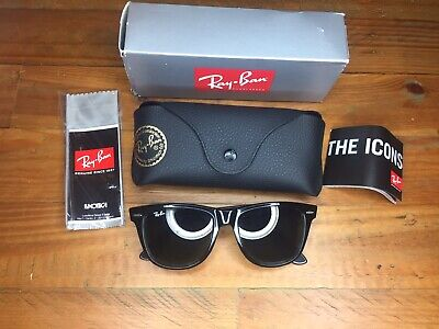 477bec4ef2b6a Ray Ban Black Wayfarer Womens Sunglasses Brand New Boxed BNWT RRP £132 On  Label
