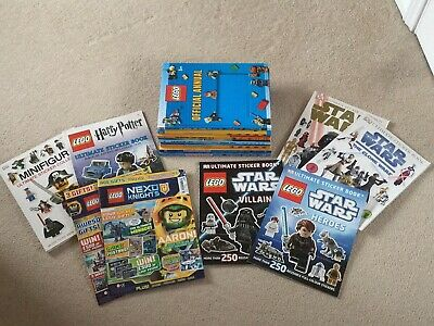 Lego Annuals and Sticker Books bundle Star Wars Harry Potter Minifigures