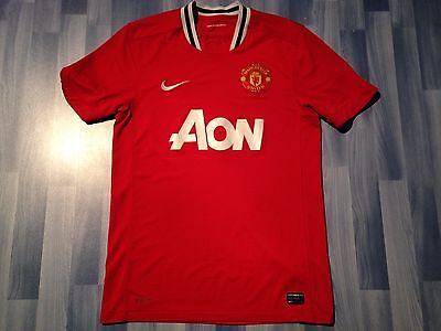 8d0ce1f68 MEDIUM ADULTS MANCHESTER United Football Shirt Season 2011-2012 Home ...