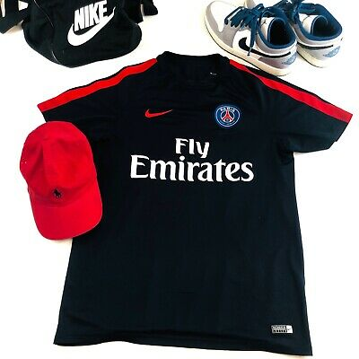 2acfe328d NIKE DRI FIT Paris Saint Germain Fly Emirates Soccer Jersey L ...