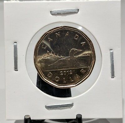 Canada 2012 Loonie Old Style With Mint Mark & No Security Feature - Unc From Set