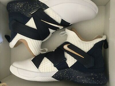7fff4099d6256 Nike Lebron James Soldier SFG Witness Mens AO4054-100 White Navy Shoes Size  10