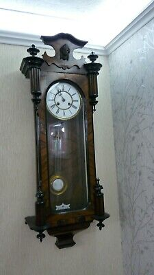 Old Large Nice Looking Working Junghans Vienna Type Wall Clock