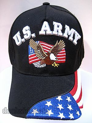 DISABLED VETERAN Cap//Hat w//Eagle /& Flag Black Military Free shipping