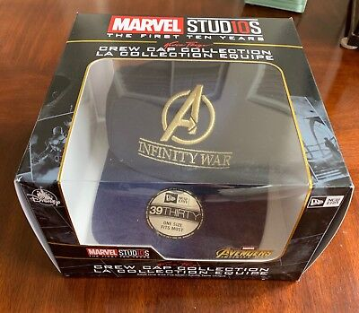f460f53d474 New Era Avengers Infinity War Crew Cap 39thirty Fitted Hat Marvel First 10  Years