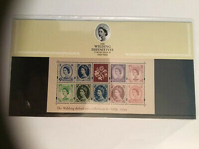 Wilding Definitives II Royal Mail Mint M/S Presentation Pack Stamps VF Pack Good