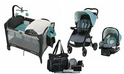 Graco Baby Stroller with Car Seat Infant Playard Crib Diaper Bag Travel System