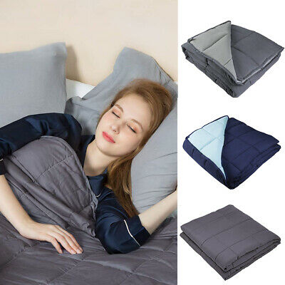 Weighted Blanket 15lbs/20lbs Reduce Stress Promote Deep Sleep for Adults