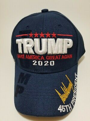 MAKE AMERICA GREAT AGAIN The 45th President Donald Trump 2020 Hat in Navy