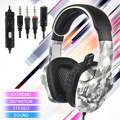 SADES SA-708GT Gaming Headset Camo Surround Headphone for PS4 Xbox One PC w Mic