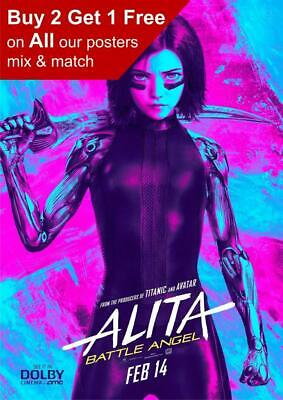 Alita Battle Angel 2019 Dolby Poster A5 A4 A3 A2 A1