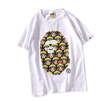 bfd5d3e29b0c Fashion Men s Bape Big Monkey icon A Bathing Ape Round Casual T-Shirt white  M