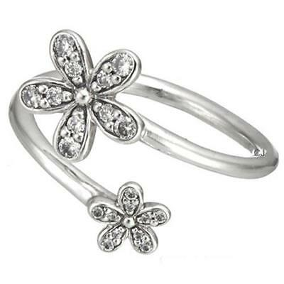 66a4f7e10 Daisies Ring 925 Solid Sterling Silver Dazzling Open Wrap Daisy S925 Size 7  / 54