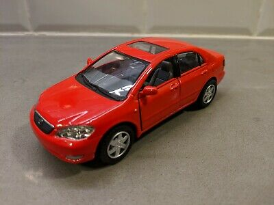 but NO BOX Kinsmart Toyota Corolla Red 5099D 1//36 scale Diecast Model Toy Car