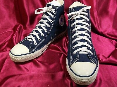 46d9e00a7c06 Like us on Facebook · Vintage USA Made Blue Converse Chuck Taylor ALL Star  Canvas Hi Tops Size 9.5