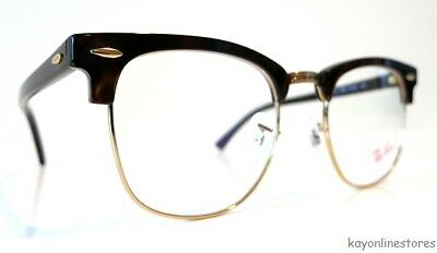 0f77379840a Ray Ban Eyeglasses RX5154 Clubmaster 2372 Tortoise Gold Plastic Frame 51 mm