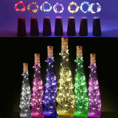 6 Pack LED Cork Wire Copper String Lights Wine Bottle Starry Fairy Light DIY